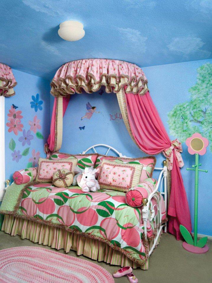 Prenses Temalı Yatak Odası Fikirler-5