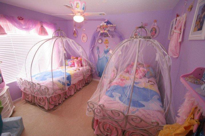 Prenses Temalı Yatak Odası Fikirler-6
